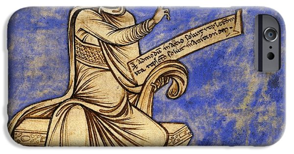 Ancient Scroll iPhone Cases - Physician With A Scroll, 12th Century iPhone Case by British Library