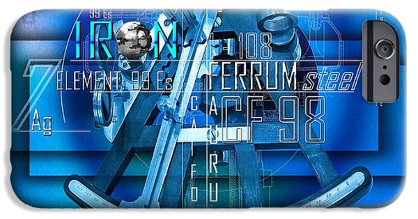 Text Art iPhone Cases - Physics Elements Discovery iPhone Case by Franziskus Pfleghart