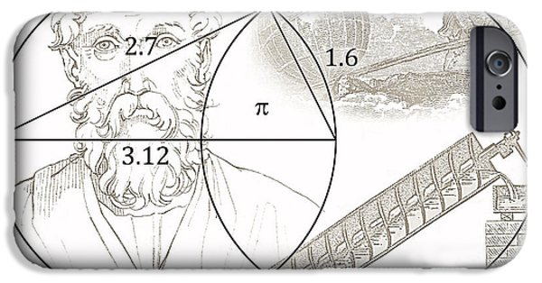 Calculus iPhone Cases - Pi Archimedes iPhone Case by Daniel Hagerman