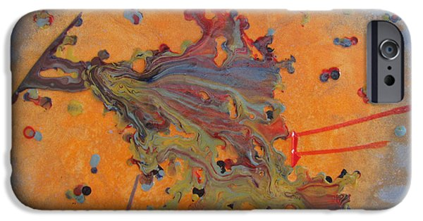 Galactic Paintings iPhone Cases - Pi iPhone Case by Collette Bortolin