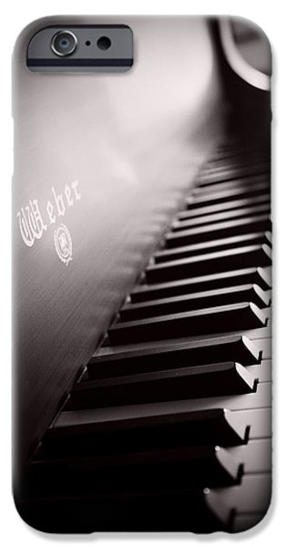 Piano iPhone Cases - Piano at the Sprague House iPhone Case by Toni Hopper