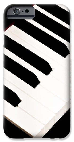 Keyboard iPhone Cases - Piano iPhone Case by Bob Orsillo