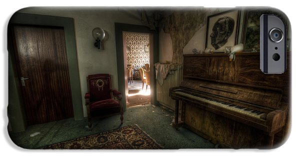Haunted House Digital Art iPhone Cases - Piano corner iPhone Case by Nathan Wright