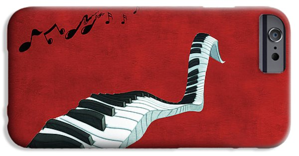 Keyboard iPhone Cases - Piano Fun - s01at01 iPhone Case by Variance Collections