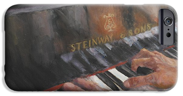 Recently Sold -  - Piano iPhone Cases - Piano Hands iPhone Case by Claiborne Hemphill-Trinklein