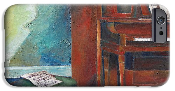 Recently Sold -  - Sheets iPhone Cases - Piano iPhone Case by Julie Dalton Gourgues