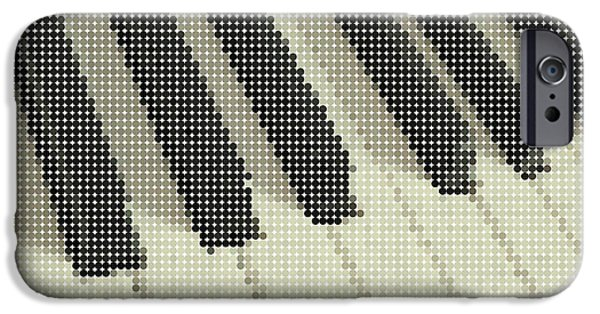 Piano iPhone Cases - Piano Keys iPhone Case by Celestial Images