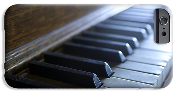 Piano Photographs iPhone Cases - Piano keys iPhone Case by Jon Neidert