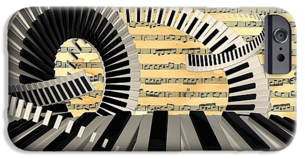 Piano iPhone Cases - Piano Keys  iPhone Case by Louis Ferreira