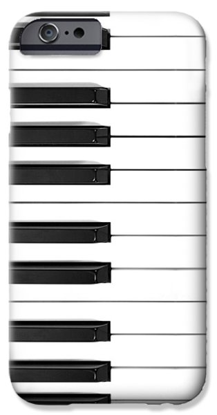 Grand Piano iPhone Cases - Piano Keys Phone Case iPhone Case by Nikki Marie Smith