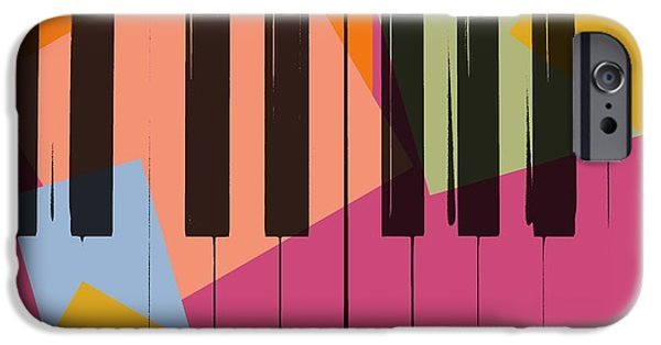 Piano iPhone Cases - Piano Keys Pop Art iPhone Case by Dan Sproul