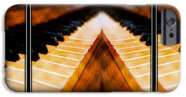 Piano iPhone Cases - Piano Keys Triptych iPhone Case by EricaMaxine  Price