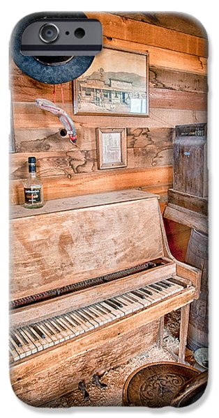 Decay iPhone Cases - Piano Man iPhone Case by Cat Connor