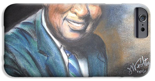 Piano Pastels iPhone Cases - Piano Man iPhone Case by Michael Foltz