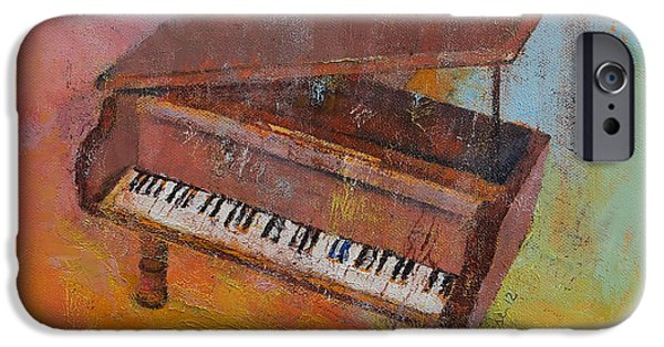 Grand Piano Paintings iPhone Cases - Piano iPhone Case by Michael Creese