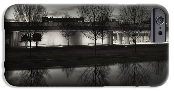 Proportions iPhone Cases - Piano Pavilion BW Reflections iPhone Case by Joan Carroll