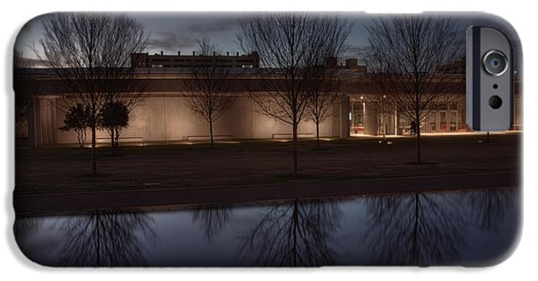 Proportions iPhone Cases - Piano Pavilion Night Reflections iPhone Case by Joan Carroll