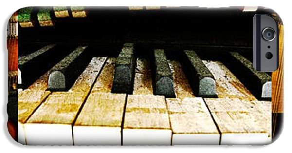 Piano iPhone Cases - Piano Triptych iPhone Case by Randi Kuhne