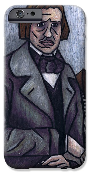 Piano Pastels iPhone Cases - Pianos Finest Poet Fryderyk Chopin iPhone Case by Kamil Swiatek