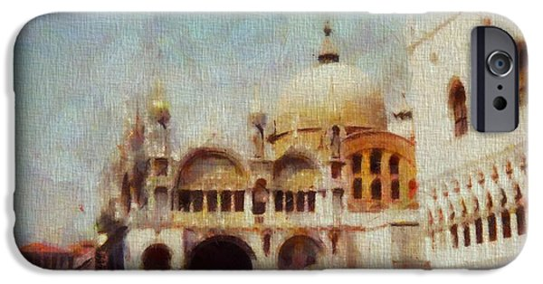 Piazza San Marco iPhone Cases - Piazza San Marco iPhone Case by Dan Sproul