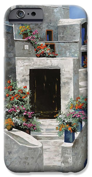 Phone iPhone Cases - piccole case bianche di Grecia iPhone Case by Guido Borelli