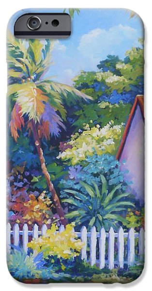 Puerto Rico iPhone Cases - Picket Fence iPhone Case by John Clark