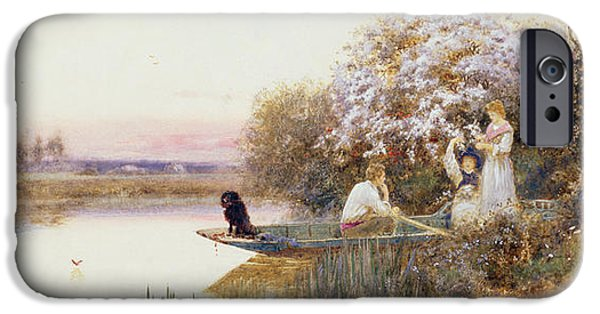 Punting iPhone Cases - Picking Blossoms iPhone Case by Thomas James Lloyd