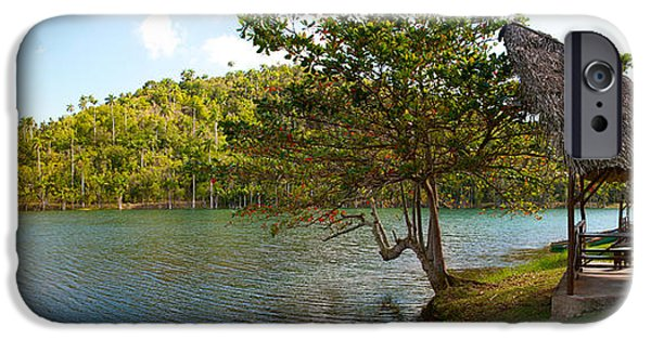 Shed iPhone Cases - Picnic Area At Pond, Las Terrazas iPhone Case by Panoramic Images