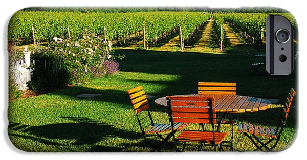 Recently Sold -  - Agricultural iPhone Cases - Picnic in the Vineyard iPhone Case by James Kirkikis