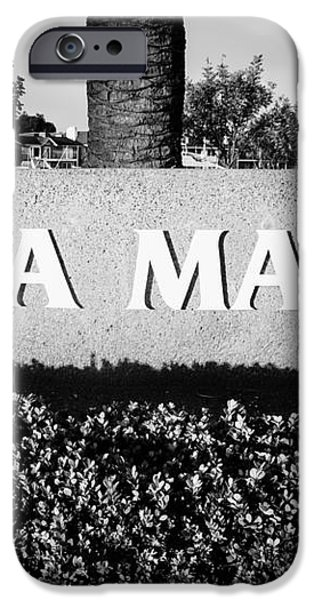 Pictue of Balboa Marina Sign in Newport Beach iPhone Case by Paul Velgos