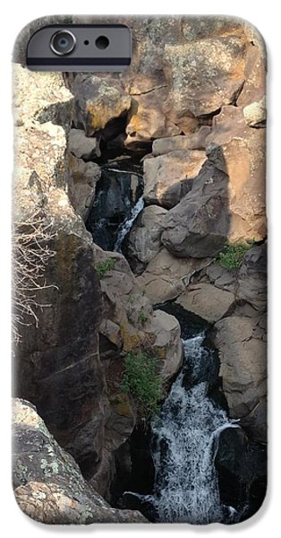 West Fork iPhone Cases - Picture Canyon Waterfall iPhone Case by FlyingFish Foto