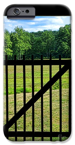 Inside-outside iPhone Cases - Picture Gate  iPhone Case by Olivier Le Queinec