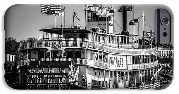 Louisiana Photographs iPhone Cases - Picture of Natchez Steamboat in New Orleans iPhone Case by Paul Velgos