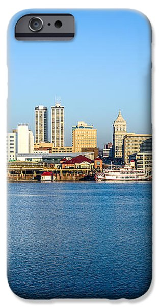 Picture of Peoria Illinois Skyline iPhone Case by Paul Velgos