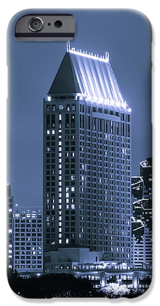 Picture of San Diego Night Skyline iPhone Case by Paul Velgos