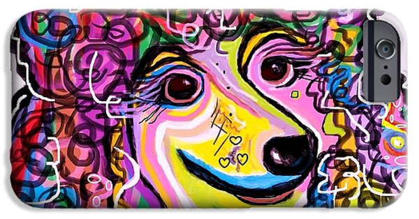 Little iPhone Cases - Picture Perfect Poodle  iPhone Case by Eloise Schneider