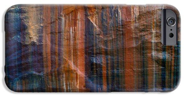 Recently Sold -  - Red Rock iPhone Cases - Pictured Rocks Lines Of Color iPhone Case by Dan Sproul