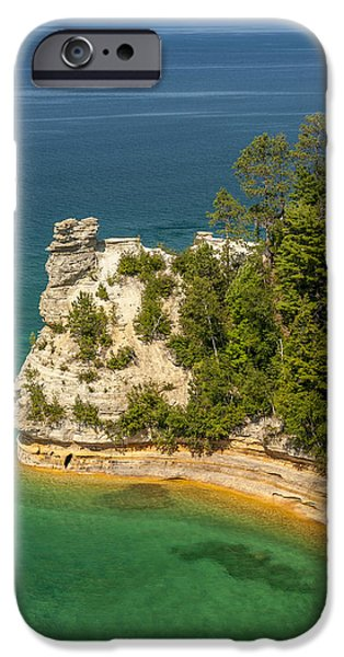 Cliff iPhone Cases - Pictured Rocks National Lakeshore iPhone Case by Sebastian Musial