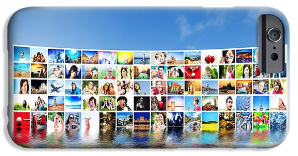 Multimedia iPhone Cases - Pictures display on wide monitors iPhone Case by Michal Bednarek