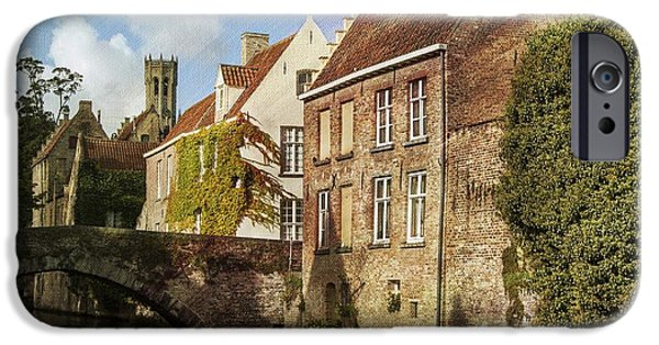 Waterway iPhone Cases - Picturesque Bruges iPhone Case by Juli Scalzi