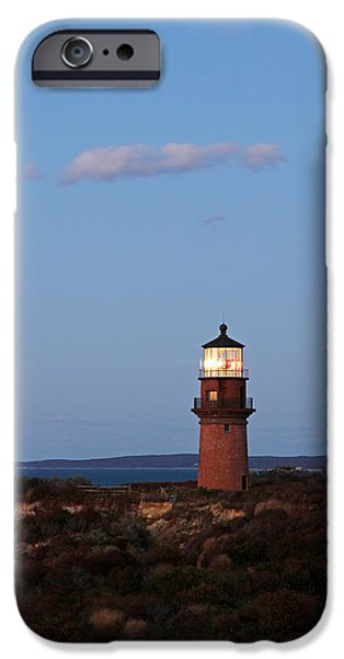 New England Lighthouse iPhone Cases - Picturesque New England Lighthouse Photography of Gay Head Light iPhone Case by Juergen Roth