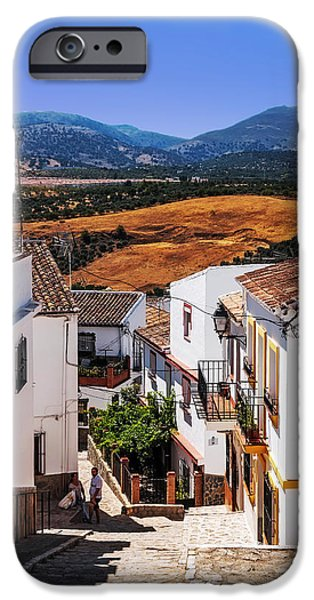Spanish House iPhone Cases - Picturesque Streets of Ronda I. Spain iPhone Case by Jenny Rainbow