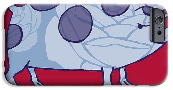 Pigs iPhone Cases - Piddle Valley Pig iPhone Case by Sarah Hough
