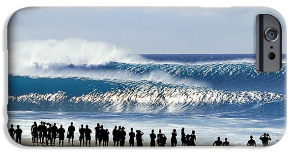 Big Wave iPhone Cases - Pipe Shadow land iPhone Case by Sean Davey