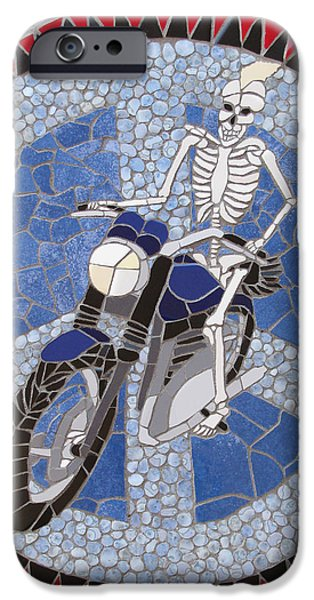 Transportation Ceramics iPhone Cases - Piece of Peace iPhone Case by Pj Flagg Tongue in Chic