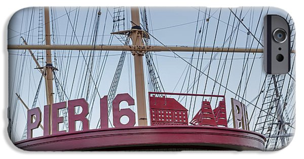 Tall Ship iPhone Cases - Pier 16 South Street Seaport NYC iPhone Case by Susan Candelario
