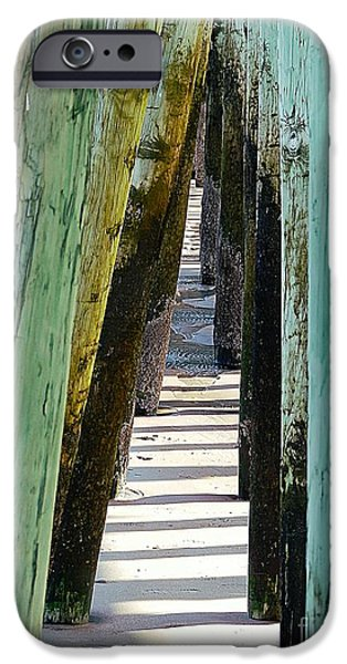 Sand Castles iPhone Cases - Pier Anchors  iPhone Case by Marcia Lee Jones