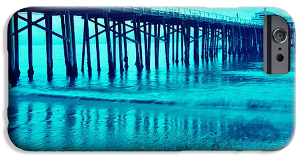 Connection iPhone Cases - Pier At Sunset, Malibu Pier, Malibu iPhone Case by Panoramic Images