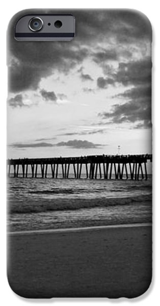 Pier in Black and White iPhone Case by Sandy Keeton