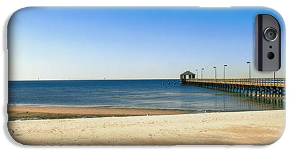 Connection iPhone Cases - Pier In The Sea, Biloxi, Mississippi iPhone Case by Panoramic Images